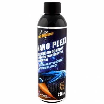 Preparat do ochrony elementów plastikowych i gumowych Nano Plexi, 200 ml