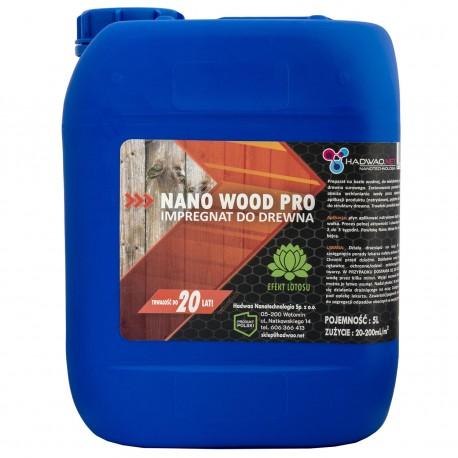 Impregnat do powierzchni drewnianych - Nano Wood Pro, 5 litrów