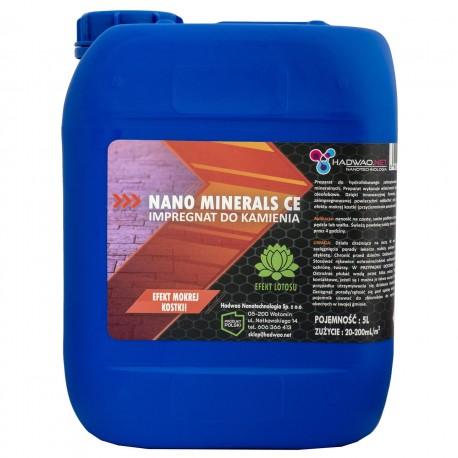 Impregnat do powierzchni mineralnych (efekt mokrej kostki) - Nano Minerals CE, 5000 ml